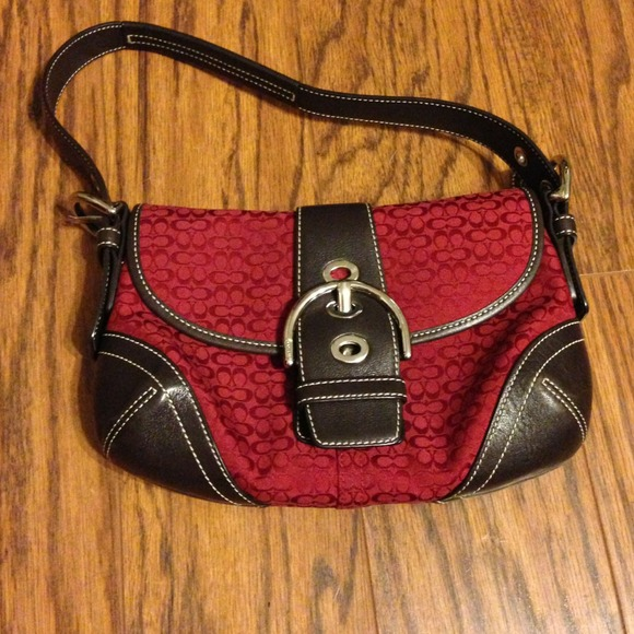 coach official online outlet cnqq  red and brown coach purse