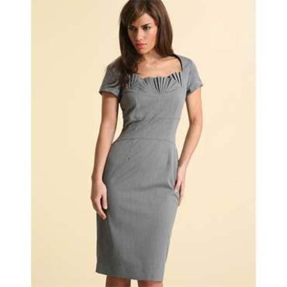 Gray Pencil Dress
