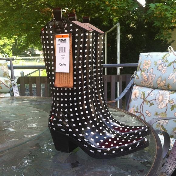 06fac032409 Bit & Bridle Rubber Cowboy Style Rainboots. NWT
