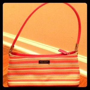 kate spade handbag - striped - like new!!
