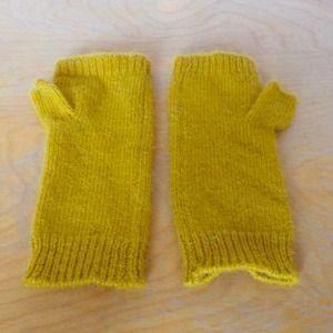 Mustard Yellow Fingerless Gloves