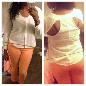 Mandee Tops - Cream blouse
