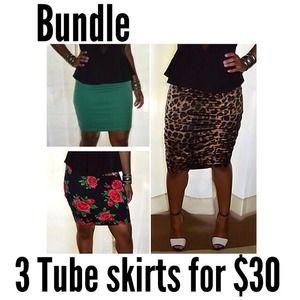 ✨Bundle✨ 3 tube skirts