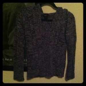 Purple Hooded Sweater