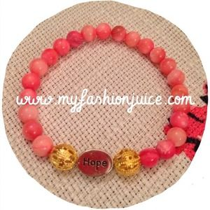 Jewelry - ⚡️Sale⚡️Brand new Hope bracelet in pink