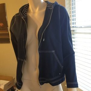 Jones New York Jackets & Blazers - Navy blue zippered hoodie