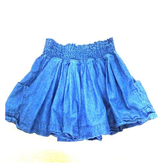 50% off 5 7 9 Dresses & Skirts - Flowy denim skirt from Melissa's ...