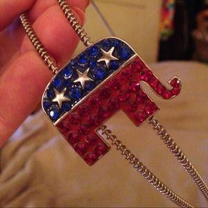 Accessories - Sequined patch &Headband GOP elephant rhinestones