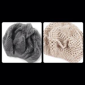 crocheted beret (each @ $10)