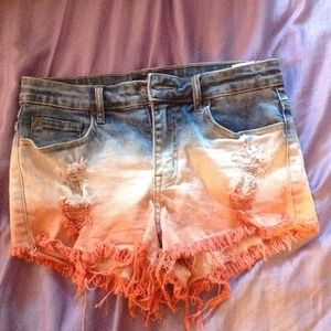 Multicolor high waisted shorts