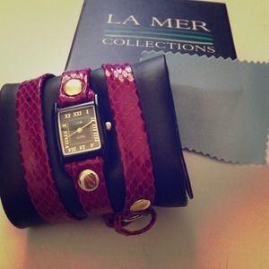 Purple Snake Wrap Watch by La Mer Collection ✨