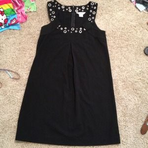 Kensie LBD little black dress grommets
