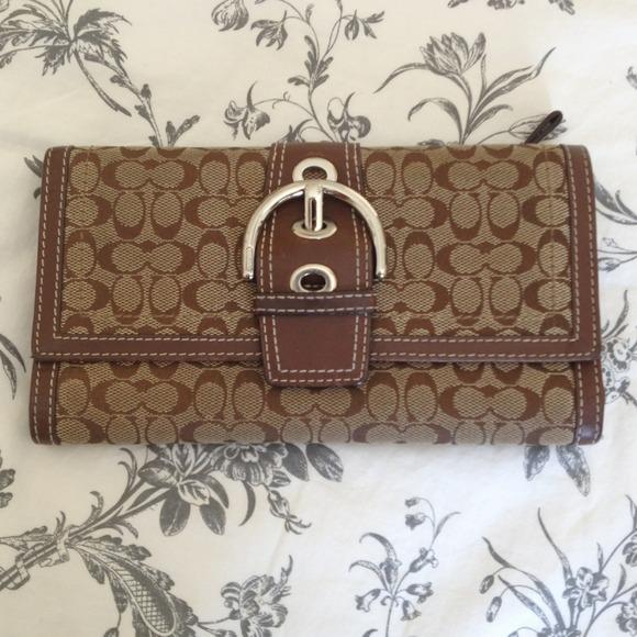 2d49477930c3 Coach Clutches   Wallets - Authentic signature C slim Coach wallet.