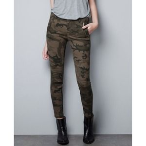 ✖BUNDLED. Zara Camo Pants w/Ankle Zipper