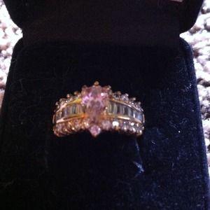 Cubic Zirconia ring.