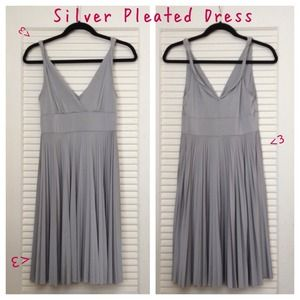 Dresses & Skirts - Silver Pleated Dress