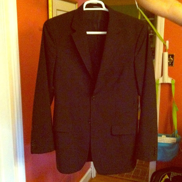 b9f5a5771af97c H&M Jackets & Coats   Solid Black Slim Fit Hm Mens Suit   Poshmark