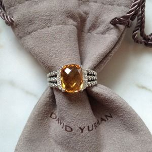 AUTHENTIC DAVID YURMAN Petite Wheaton Ring Citrine
