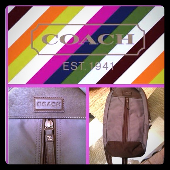 Coach Handbags - Coach one strap backpack/bag