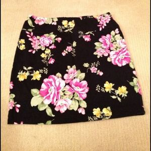 Floral Bodycon Skirt