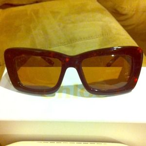 Authentic Chloe tortoise sunglasses