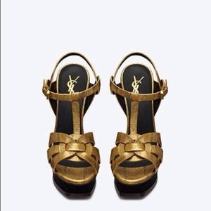 📢REDUCED👠YSL Tribute Metallic Gold /Black NIB