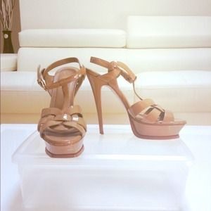 AUTHENTIC YSL NUDE TRIBUTE SANDALS