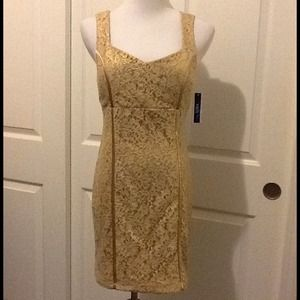 A. Byer Dresses & Skirts - ❌ CLEARANCE: Gold Lace party dress