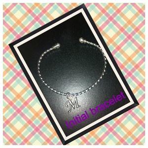 Jewelry - Silver initial bangle bracelet