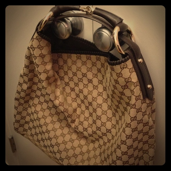 09a570fd96468e Gucci Bags | Brown Gg Fabric Large Horsebit Hobo Bag | Poshmark