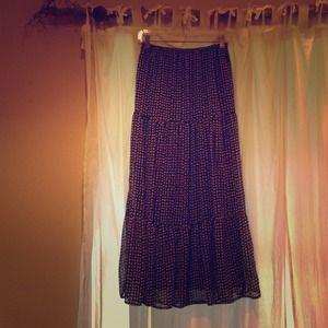 Blue & White Skirt