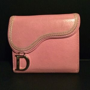 Authentic Pink Dior wallet with tags