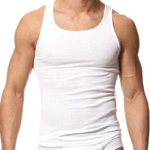 Men's White Tank Top (pack of 3pc's) **New**