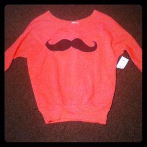 Sweaters - Derek Heart Mustache sweater