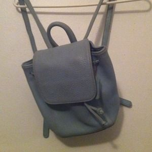 Coach real leather pastel blue mini backpack