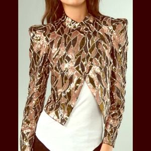 Alice + Olivia sequin moto jacket!!