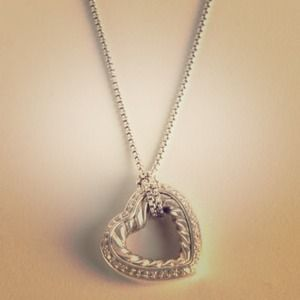 Authentic David Yurman cable ❤ w/ diamonds.