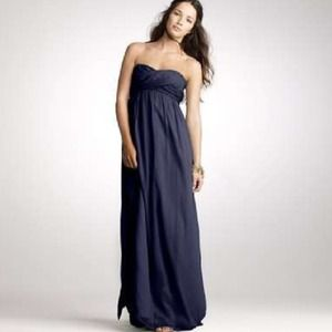 J Crew navy chiffon long dress, sz 2