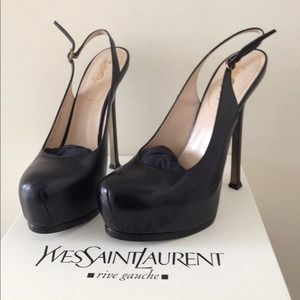 Authentic YSL Slingback Shoes