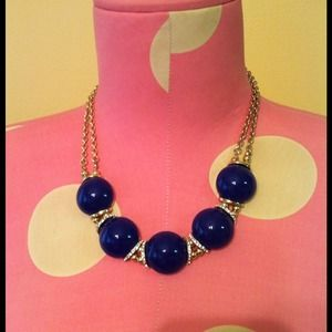 Cobalt blue colored necklace.