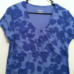 merona Tops - Blue print top