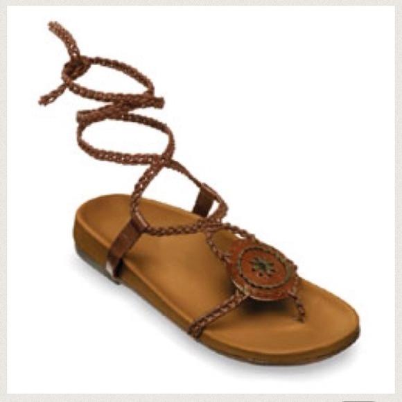 Final Sale Leather Strap Sandal By