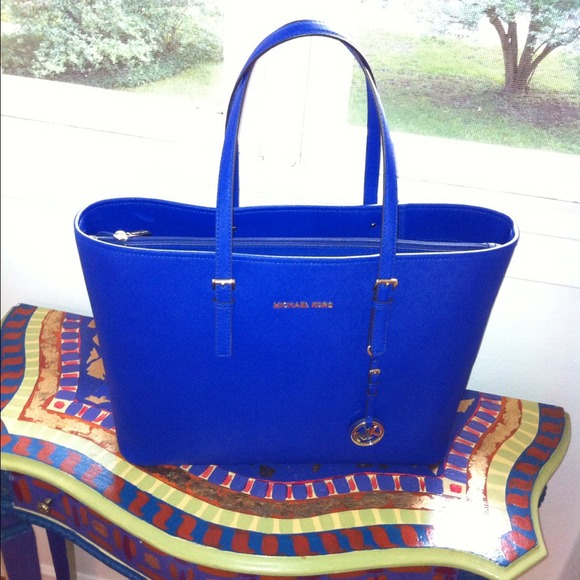 Michael Kors Handbags - Cobalt Blue Michael Kors Travel Tote