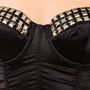Forever 21 Tops - 🚫SOLD🚫Forever21 Studded Satin Corset