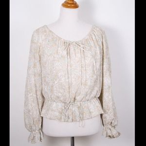 Oscar de la Renta Boho Top- (off shoulder as well)