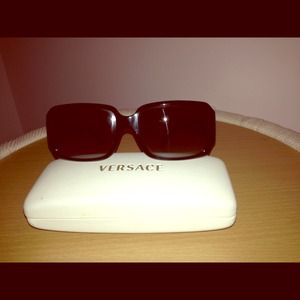 Versace black sunglasses with case