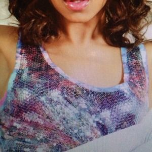 Urban Outfitters Tops - Sequin tank top tie dye colored