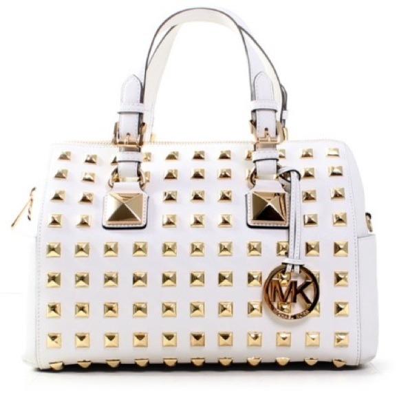 821274aeb471 💢SALE💢Michael Kors Studded Grayson White Leather