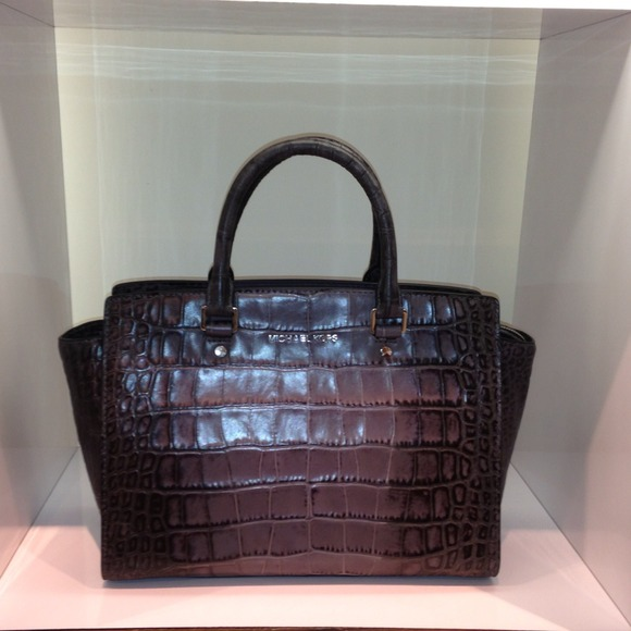 02cc4dacafdc MK Snakeskin Embossed Leather Selma! ONLY 2 LEFT. NWT. MICHAEL Michael Kors