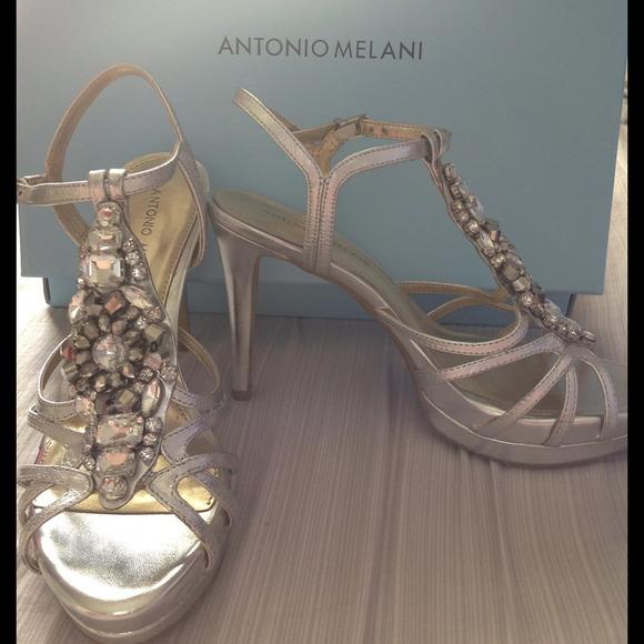 e62cc317c25 Antonio Melani silver heels! New lower price!